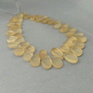 matte citrine beads
