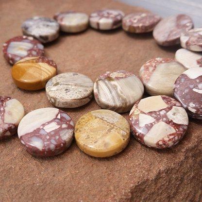 mosaic mookaite beads