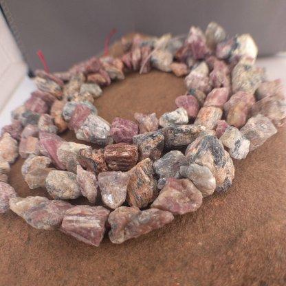 Rough Pink Tourmaline Beads