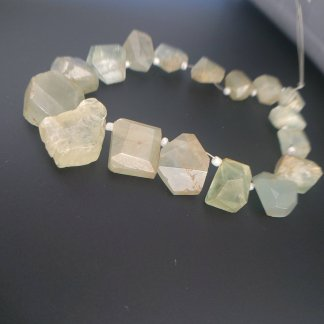 Aquamarine Nugget Beads