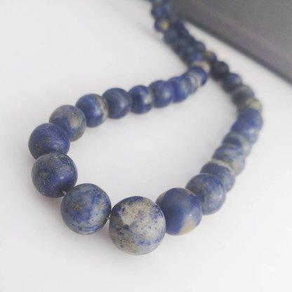 Matte Lapis Lazuli Beads