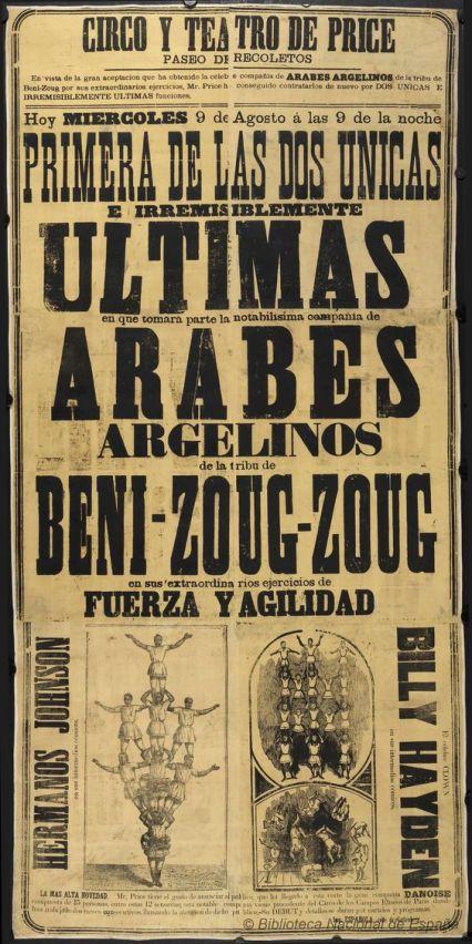 Arabes argelinos. Circo Price 1876