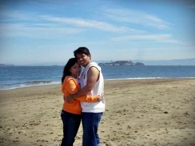 Behind us is Alcatraz Island aka The Rock.