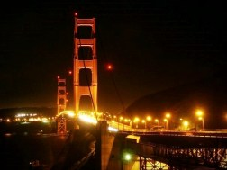The view of Golden Gate Bridge from Horshoe Bay in Sausalito.