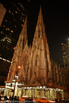 The Cathedral of St. Patrick (commonly called St. Patrick's Cathedral) is a decorated Neo-Gothic-style Roman Catholic cathedral church in the United States and a prominent landmark of New York City. It is the seat of the archbishop of the Roman Catholic Archdiocese of New York, and a parish church, located on the east side of Fifth Avenue between 50th and 51st Streets in midtown Manhattan, New York City, New York, directly across the street from Rockefeller Center and specifically facing the Atlas statue. (Wikipedia)