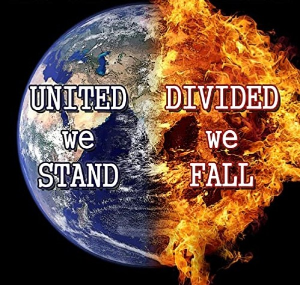Never forget united we stand divided we fall