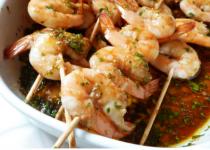 Gambas marinées aux saveurs asiatiques
