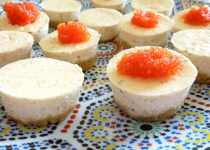 Mini cheese-cakes au saumon fumé