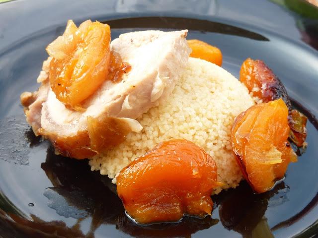 Rôti de porc aux abricots secs