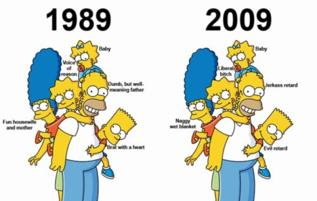 Old school vs Newer episodes – The Simpsons – Ungroovygords