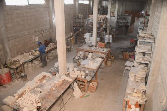 Taller de elaboración de figuras de resina en San Andrés Cuexcontitlán, Toluca