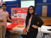 Students Andre Gonzales and Daniella Tapia at last year's Expo