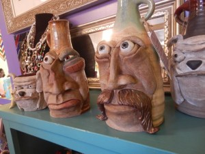 Face Clay Jugs at Artist Marketplace.