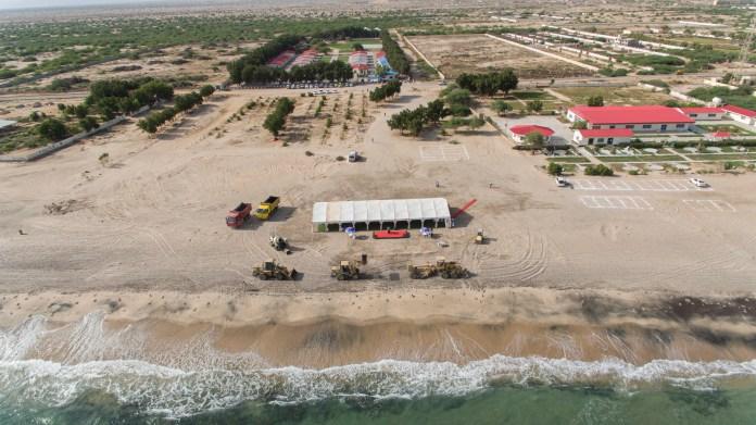 Somaliland Berbera beachfront aerial view May 2021