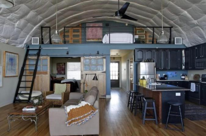 Living In a Quonset Hut  Great Idea for a Tiny House Quonset Hut Home Floor Plans