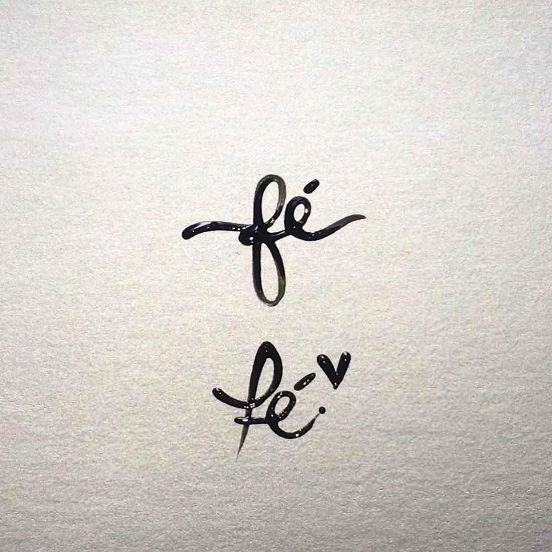 Como desenhar a palavra Fé (dois modelos)