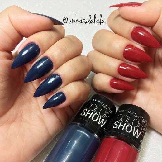 Esmalte Maybelline COLOR SHOW - Blue Jeans e Red Carpet