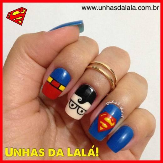 Unhas Decoradas Superman