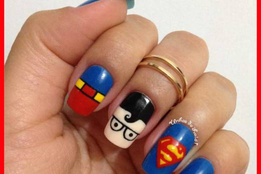 Unhas Decoradas Superman
