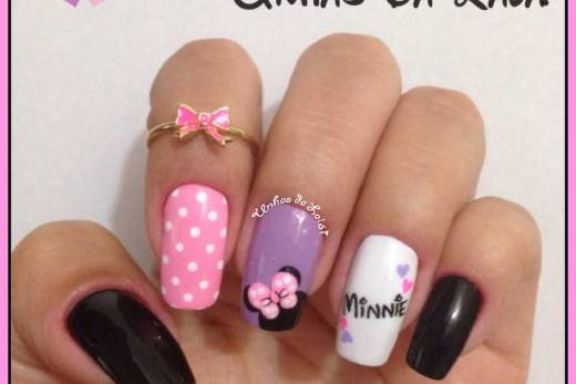 Unhas Decoradas Especial Mickey