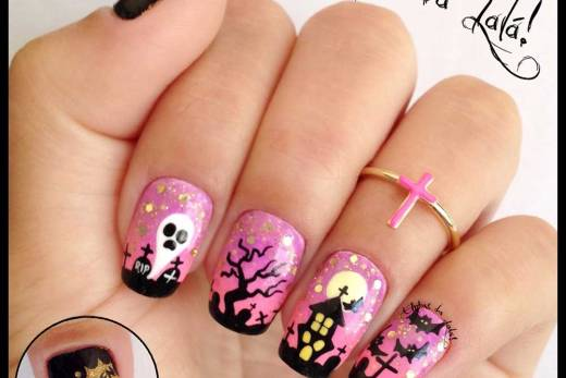 Unhas Decoradas Halloween