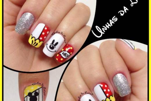 Unhas Decoradas Hey Mickey