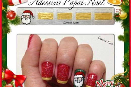 Unhas Decoradas Papai Noel + Francesinhas