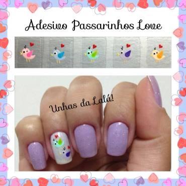 Unhas Decoradas Passarinho Love
