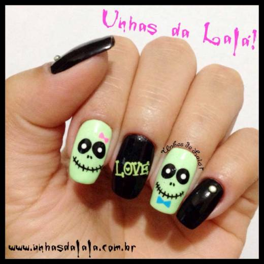 Unhas Decoradas Zumbi Love