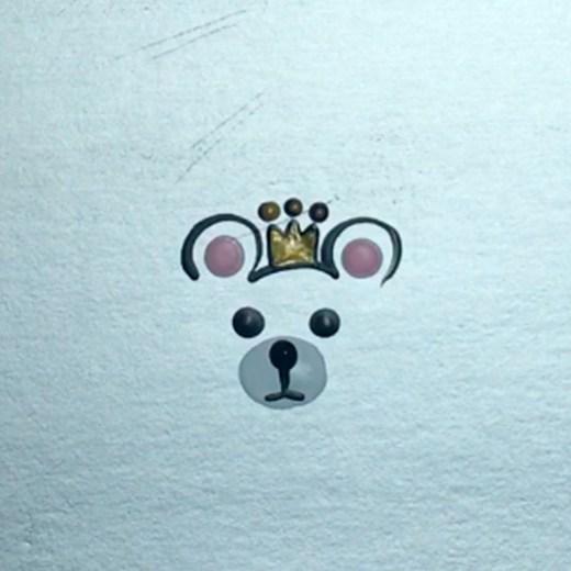 Como Desenhar Ursinho com Coroa