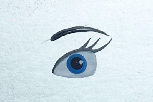 como desenhar olho de princesa