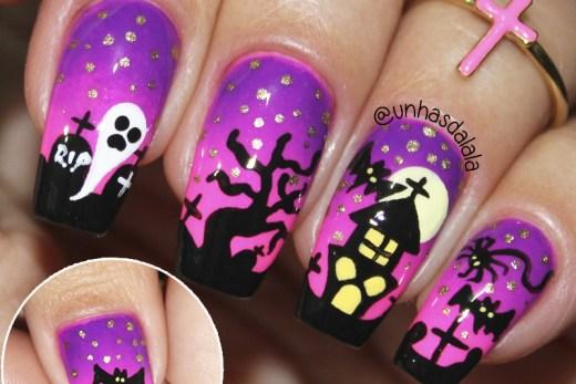 Unhas Decoradas Halloween