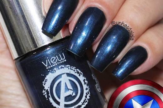 Esmalte View Cosméticos - Blue Capitão América
