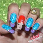 Unhas Decoradas Ariel – A Pequena Sereia
