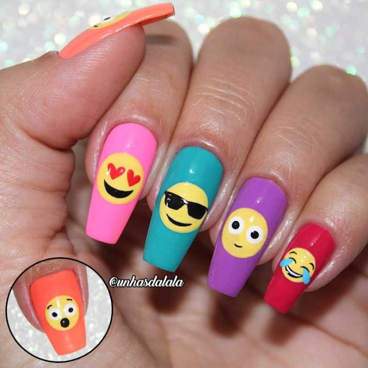 Unhas Decoradas Emoji