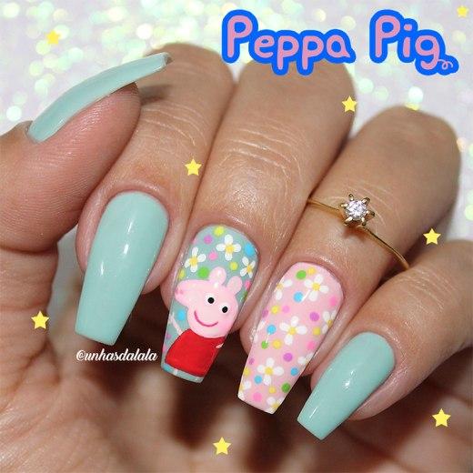Unhas Decoradas Peppa Pig