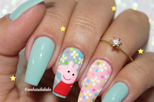 Unhas Decoradas Peppa Pig