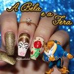 Unhas Decoradas A Bela e A Fera – Beauty and The Beast