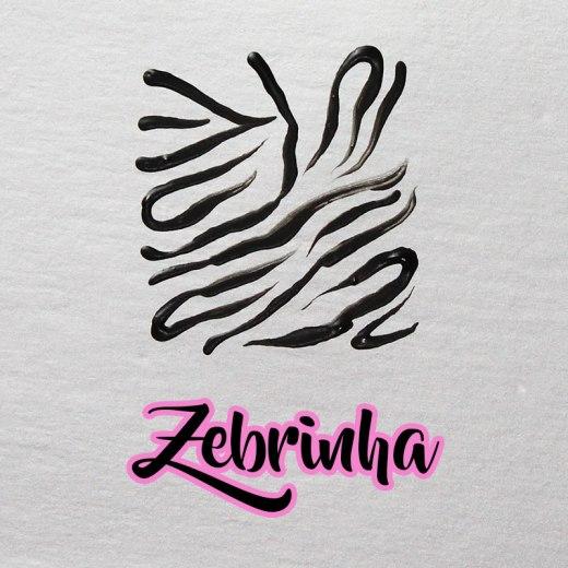 desenhando estampa de zebrinha