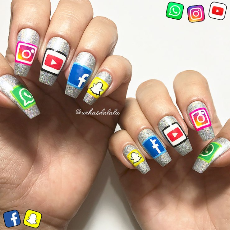 Unhas Decoradas Redes Sociais