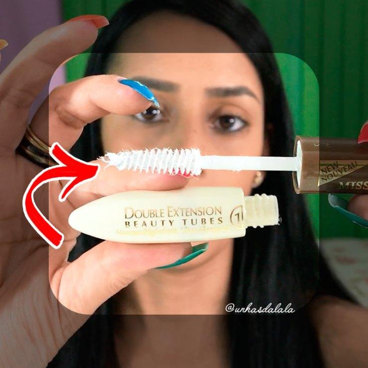 testando máscara para cílios miss rôse