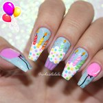 Unhas Decoradas Feliz Aniversário ( Birthday Nails )