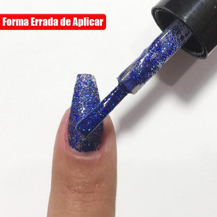 Truque Correto de Como Aplicar Esmalte Glitter