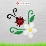Como Desenhar Joaninha + Flor