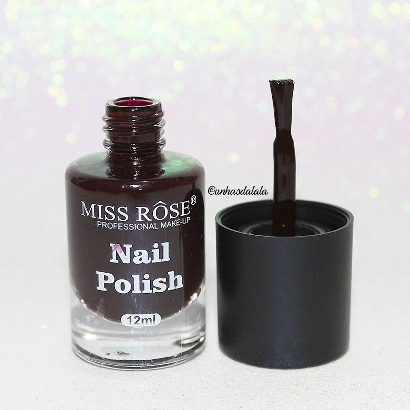 recebidos miss rôse, miss rôse, esmalte miss rôse, roxo, roxo escuro, esmalte roxo escuro