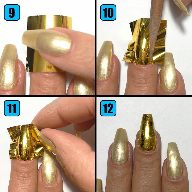 testando Nail Foil da Newchic, nail foil, unhas com foil, foil para unhas, unhas com foil dourado, como usar foil para unhas, nail foil dourado, newchic
