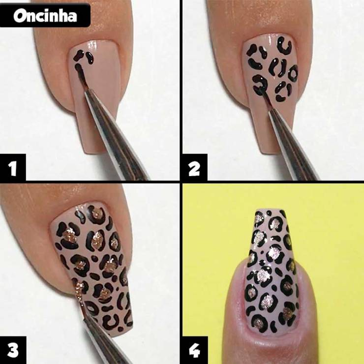5 unhas decoradas rápidas e fáceis para iniciantes, unhas para iniciantes, unhas fáceis, passo a passo fácil, unhas rápidas, unhas simples, unhas decoradas fáceis, unhas decoradas para iniciantes, unhas decoradas rápidas, unhas para iniciantes, unhas decoradas, unhas decoradas oncinha, unhas oncinha, orelhinhas oncinha, nail art, leopard nails, leopard nail art, animal print
