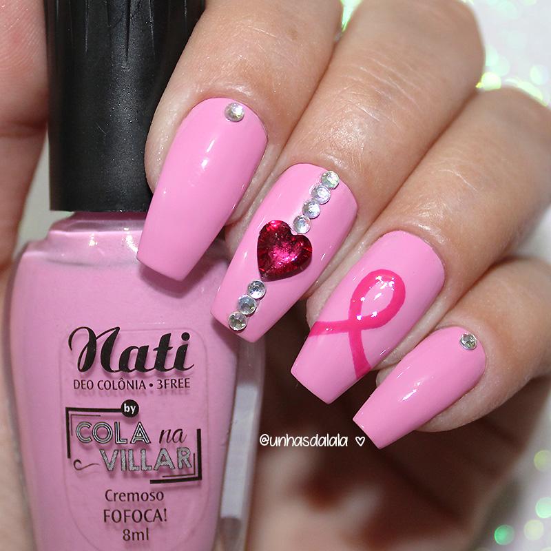 unhas decoradas outubro rosa, outubro rosa, unhas outubro rosa, unhas decoradas outubro rosa, pink october nail art, pink october, joia de unha, unhas com pedrarias, rosa, pink