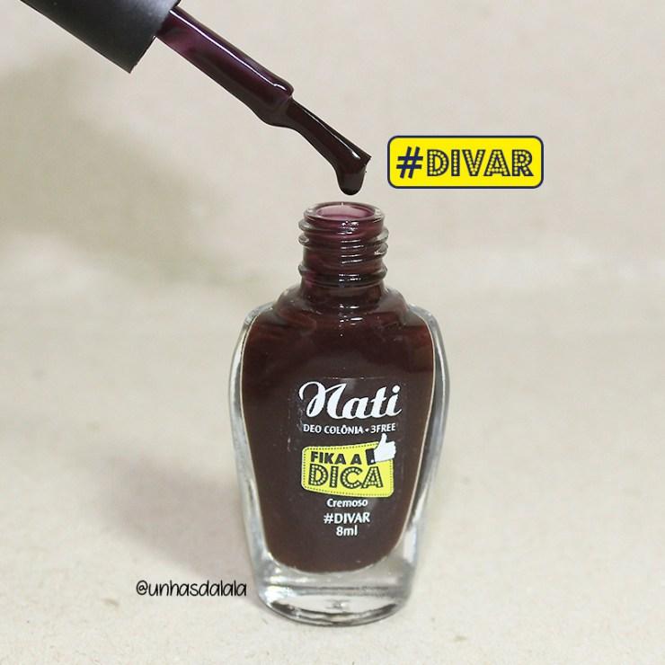 recebidos nati fika a dica, nati cosmética, fika a dica, coleção esmaltes fika a dica, esmalte, esmaltes nati, esmalte escuro, vinho fechado