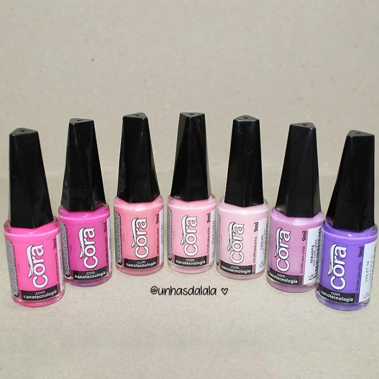 recebidos cora, esmalte cora, cora esmaltes, recebidos, esmalte rosa pink, esmalte rosa, esmalte rosa bebê, esmalte violeta